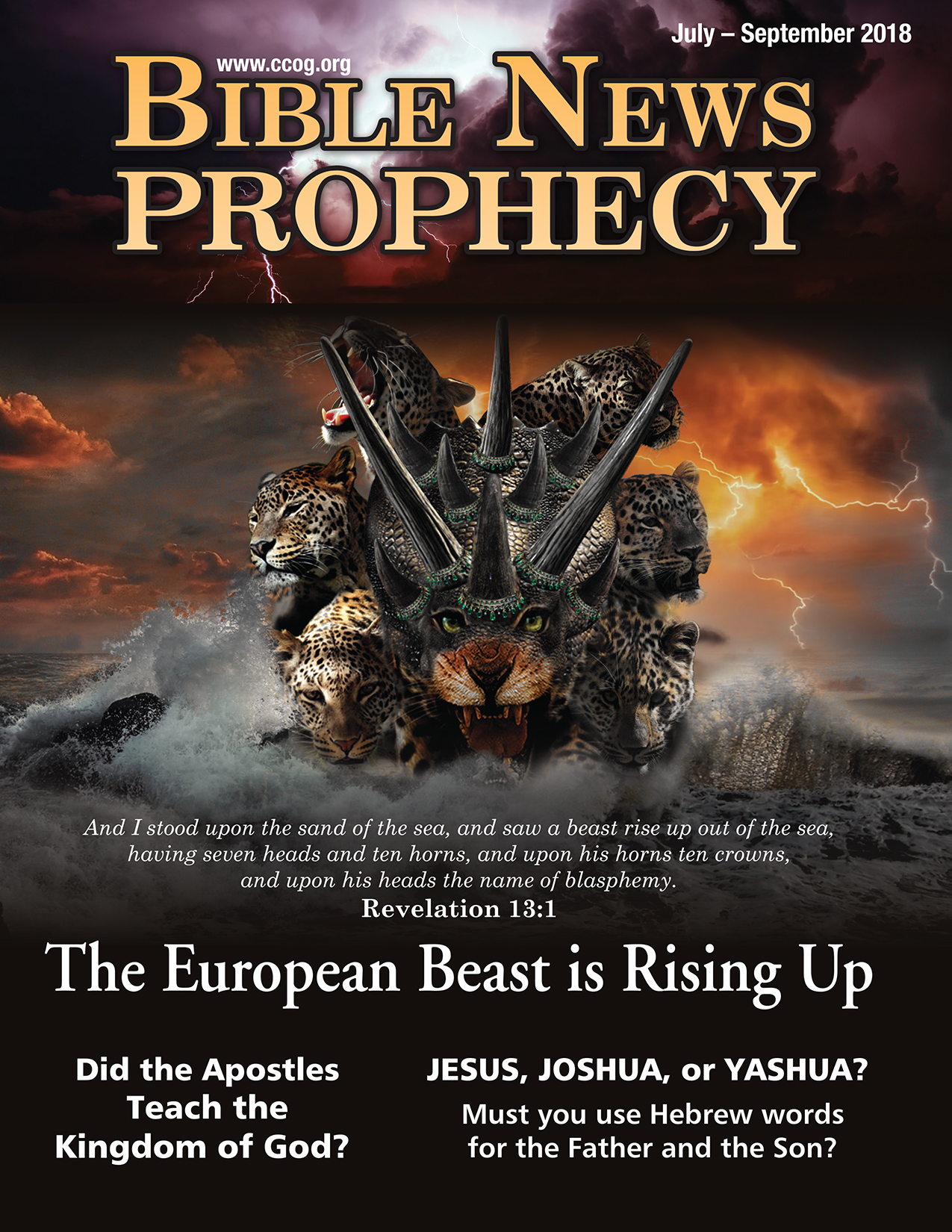 BibleNewsProphecy July-October 2018: The European Beast is Rising Up